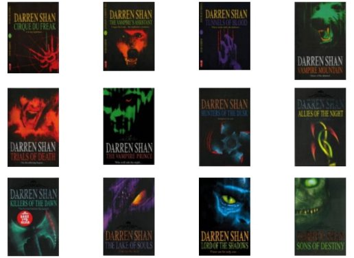 Darren Shan The Saga Collage